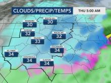 Up to 4 inches of snow possible in parts of NC