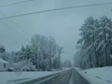 Road conditions worse northeast of Triangle for morning commute