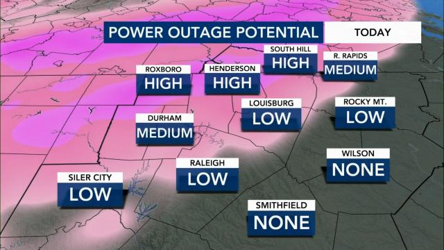 Power outage potential for Feb. 18, 2021