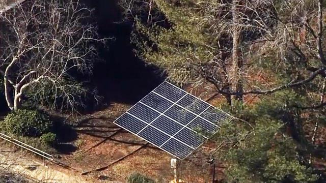 Solar panels at Athens Drive High School