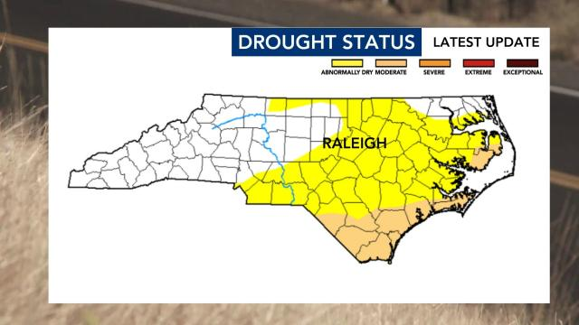 Recent rains were not enough to ease 'abnormally dry' central NC