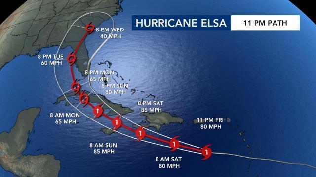 Elsa Kasırgası için 23:00