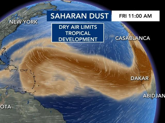 Saharan dust is back in the Atlantic and that's great news if you're vacationing soon! :: WRAL.com