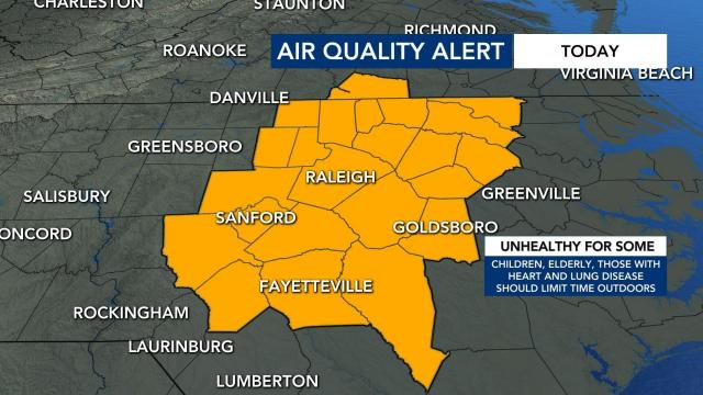Air quality weakening as smoky haze from wildfires enters North Carolina