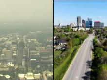 Smoky haze from wildfires impacting NC's air quality