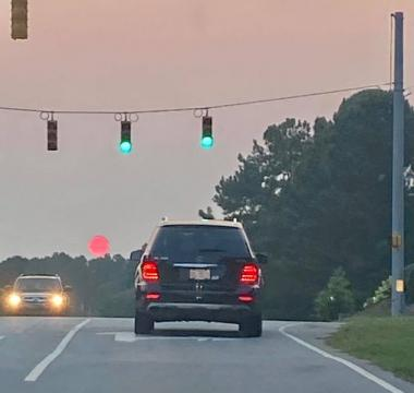 smoke from west coast wildfires brings red sunsets to North Carolina