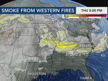 Wildfire haze should clear in coming days