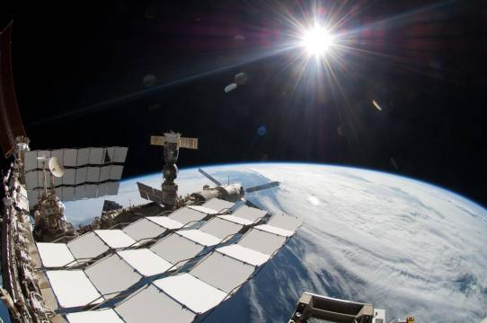 The Sun appears white when viewed from above the atmosphere