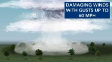 IMAGES: A look at how summer storms create localized damaging winds