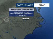 Morganton earthquake Aug. 17, 2021