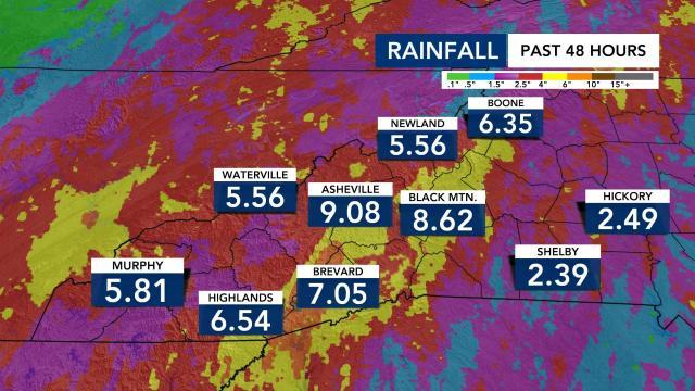 Rainfall totals Aug. 17, 2021