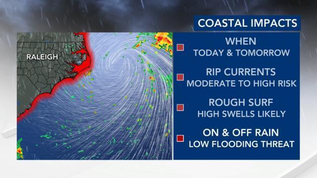 Coastal impacts Wednesday and Thursday.