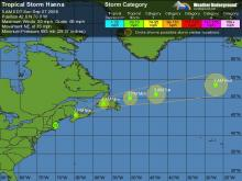 Meteorologists have been tracking Hanna, which has been a tropical storm and a hurricane.