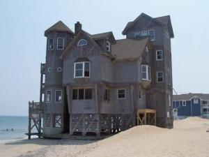 "This house was made famous by the movie ""Nights in Rodanthe,"" starring Richard Gere. The picture was taken Aug. 13, 2009. (Photo courtesy of Marsha Adkins)"