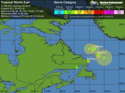 Earl Tracking