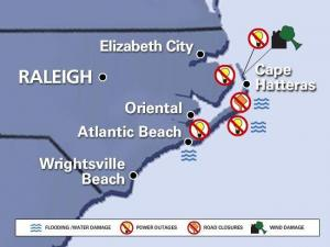 A look at storm damage caused by Hurricane Earl.