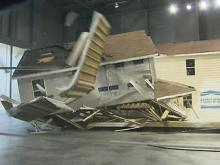 What a hurricane does to a house