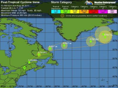 Irene Tracking - 5 Day