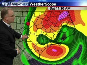 Mike Maze looks at the rainfall potential from Hurricane Irene on Saturday at 11:30 a.m.