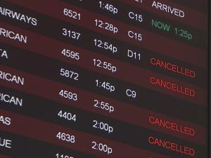 Hurricane Irene forced cancelations at Raleigh-Durham International Airport on Sunday, Aug. 28, 2011.