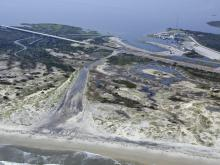 Oregon Inlet after Hurricane Irene (Photo by Donny Bowers)