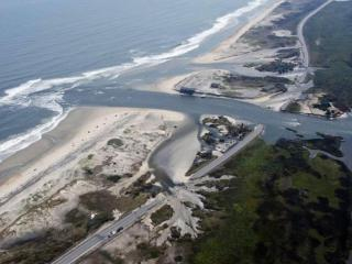 Pea Island area after Hurricane Irene (Photo by Donny Bowers)