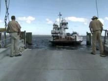 Ferries shuttle critical supplies to Hatteras Island