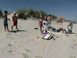 Tourists returned to the northern Outer Banks less than a week after Hurricane Irene ripped up the North Carolina coast.