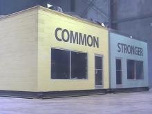 Hurricane wind test: Warehouse door