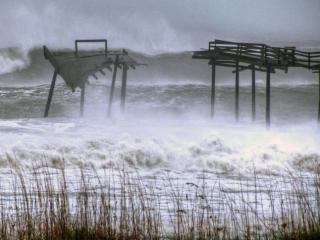 Hurricane Sandy flooded parts of Cape Hatteras National Seashore on the Outer Banks Sunday. Photo by Donny Bowers