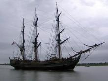 The HMS Bounty in an undated photo