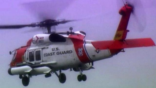 Coast Guard aircraft and crews from Florida and Georgia are in Elizabeth City this week to help assess damage from Superstorm Sandy up and down the East Coast.