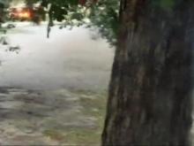 Waters rush down Goldsboro street