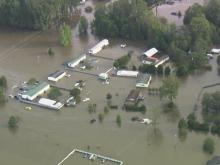 Sky 5 surveys flood waters in Edgecombe County