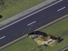 Sky 5: Sinkhole closes I-40 in Johnston County