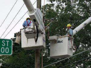 More than 42,000 customers in Wake County were still in the dark Monday night. In Robeson County, 22,000 customers were without power while nearly 21,000 customers were still in the dark in Wayne County. Johnston County was reporting about 18,000 power outages.