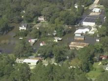 From above, flooding's scope is clear