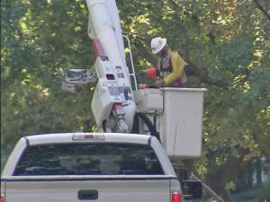 Crews estimated that power would be returned to all residents by Oct. 16.