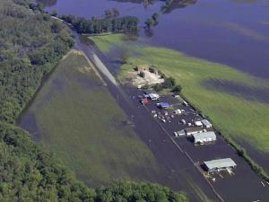 Water from the Tar River made its way into the Town of Princeville on Oct. 12, 2016, several days of Hurricane Matthew dumped as much as a foot of water on parts of eastern NC.