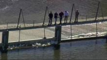 Mandatory evacuation remains as officials monitor Woodlake Dam