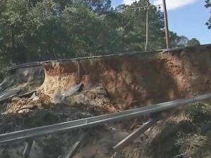 A washed out road in Fayetteville has cut off an entire neighborhood and residents say they have previously told the city it could happen.