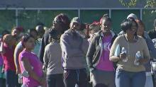 IMAGE: Residents wait for help to replace food lost in Hurricane Matthew