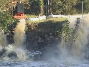 Crews pumping 20M gallons of water out of Princeville daily