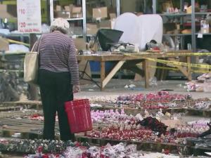 Smithfield businesses are getting creative on ways to rebuild after Hurricane Matthew and Saturday was the second day of a flood sale to help raise money for a damaged warehouse.