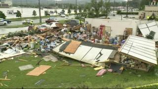 RAW storm damage video from Gulf Coast