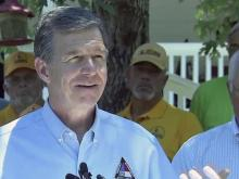 Cooper visits Lumberton, pledges additional support to Matthew victims