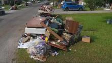 Drone video shows trash, rubble outside Houston homes