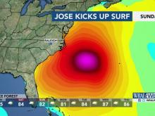 Jose could bring 10-foot surf to NC beaches