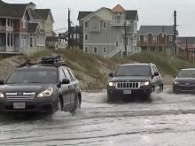 Jose causes rough surf, washout in OBX