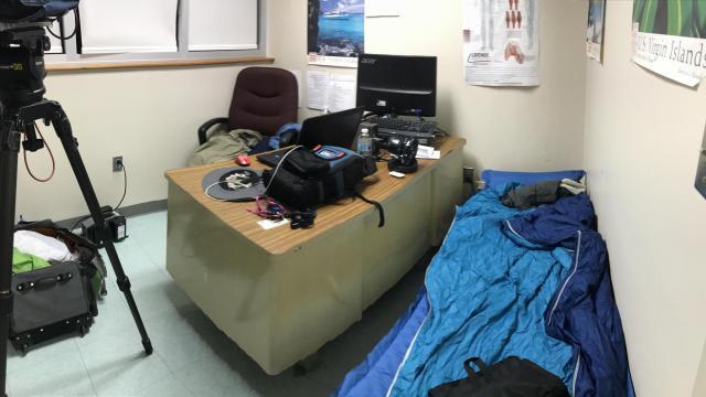 My sleep and work area